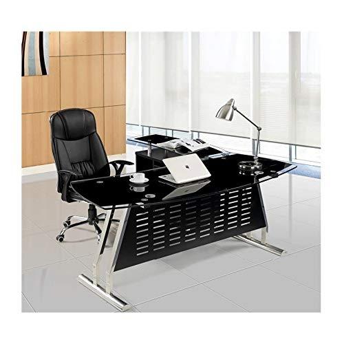 Grupo SDM Mesa Oficina Despacho Oval, Mueble a Izquierda, Cristal, 180x85 cms