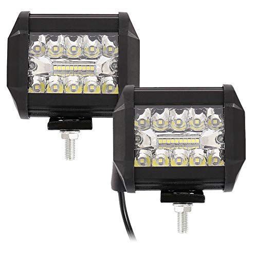 2pcs Fari da Lavoro a LED Impermeabile 200W 20pcs LED Faro da Lavoro Adatto Universale Automobilistici Luci da Lavoro per Autoveicoli Fuoristrada, Camion, Trattori