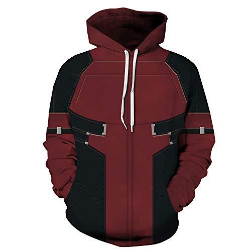 TAKUSHI HF Unisex Fashion Galaxy 3D Digital Printed Pullover Hoodies Hooded Sweatshirts for Sport and Party (Deadpool, 2XL/3XL)