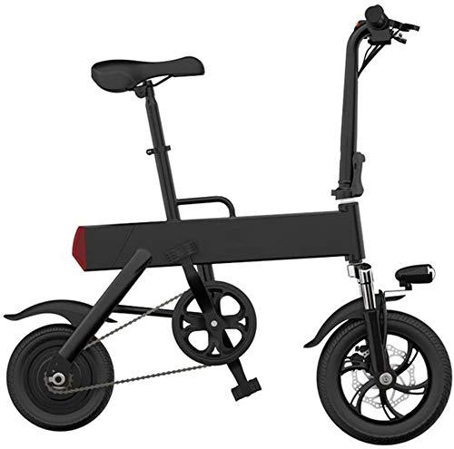 XINTONGLO Adulto ciclomotor, Mini Bicicleta Plegable eléctrica, Estudiante móvil eléctrico ciclomotor, 350W Contorno del Motor, Velocidad 25 kilometros/H,Negro