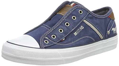MUSTANG Damen 1272-401 Slip On Sneaker, Blau (Dunkelblau 800), 39 EU