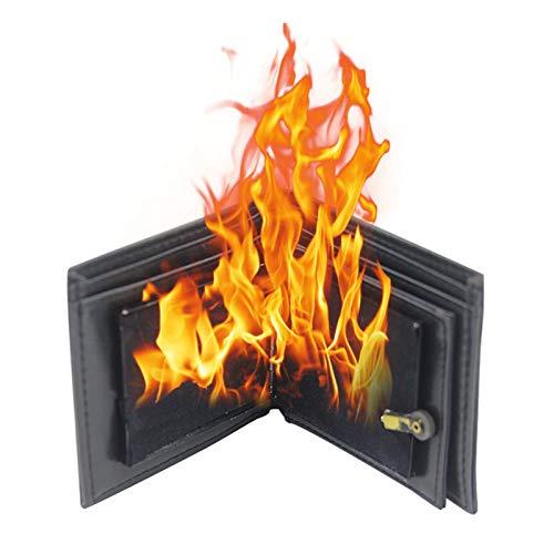 JeromKewin Magic Flaming Fire Wallet, Magier Stage Street unvorstellbare Show Prop für Freunde