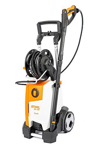 Stihl Limpiador de alta presión RE 130 Plus con presión de trabajo de 135 bares y cabezal de bomba de aluminio.