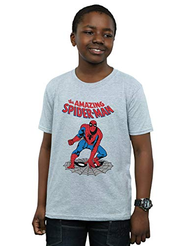 Marvel Universe Niños The Amazing Spider-Man Camiseta Deporte Gris 5-6 Years