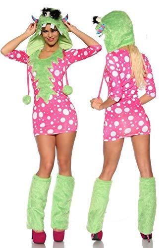 Sexy Monster Kostüm - grün/pink