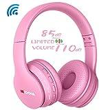 MIDOLA Kids Bluetooth Wireless Headphones Wired On-Ear Headset Foldable Earphone with AUX 3.5mm