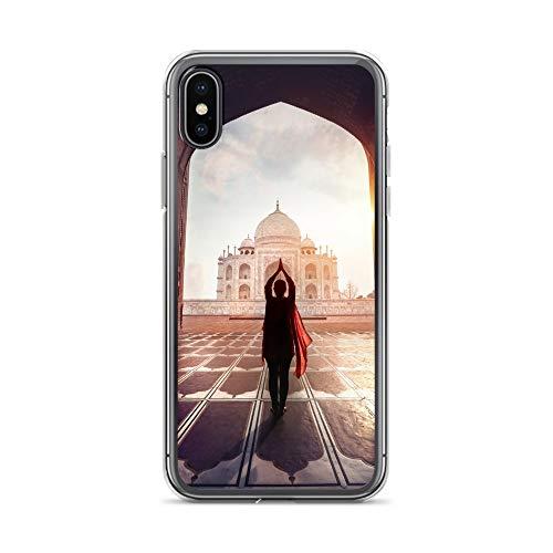 Handyhülle Indien India kompatibel für Huawei P40 Tadsch Mahal 2 Schutz Hülle Case Bumper transparent rund um Schutz Cartoon M9