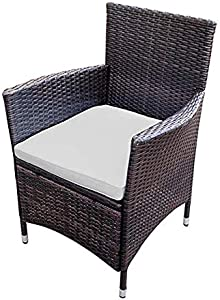 Veryke Patio Furniture Set, 5 PCS All Weather Resistant Wicker Dining Set with Stacking Chairs, Balcony Patio Garden Poolside, Wicker Table and Chairs