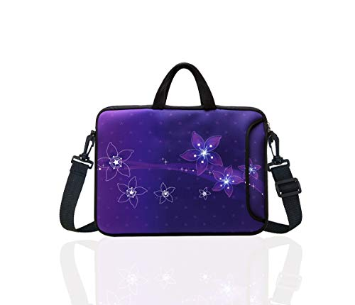 """TAIDY 12.5-Inch Laptop Shoulder Bag Sleeve Case with Handle for 11.6"""" 12"""" 12.2"""" 12.5"""" Netbook/MacBook Air Pro (Purple)"""