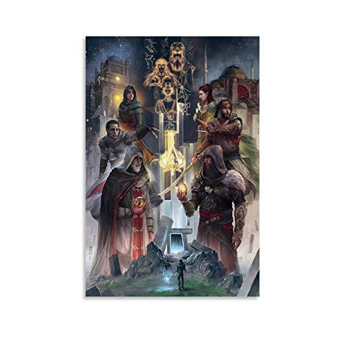 SEMN Póster artístico de Assassin's Creed Revelations artístico, impresión artística para pared, decoración moderna para habitación familiar, 16 x 24 pulgadas (40 x 60 cm)