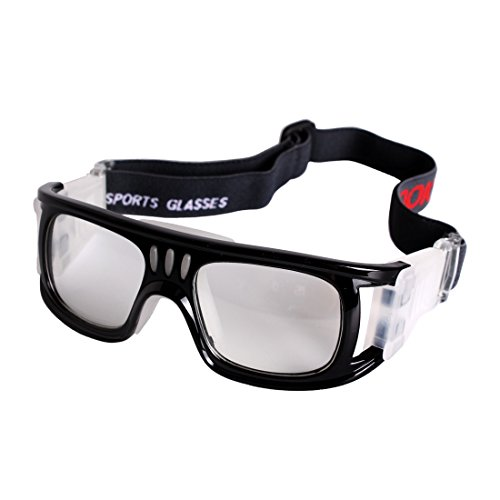 Andux Baloncesto Fútbol Fútbol Deportes Gafas protectoras gafas Gafas de seguridad LQYJ-01 (Negro)