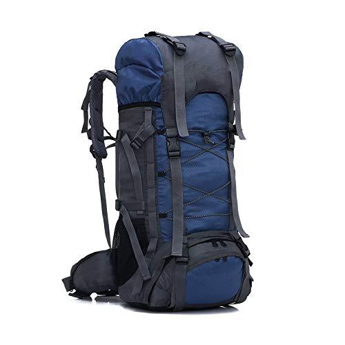 CXJC Sac à Dos De Randonnée 60L Pédestre Nylon Water Resistang Randonnée Camping Travel Alpinisme pour Les Voyages Trekking Voyage Sac à Dos,Blue