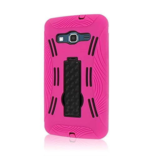 MPERO Impact XL Series Kickstand Hülle Tasche Hülle for Samsung ATIV S Neo I800 I8675 - Hot Pink Rosa