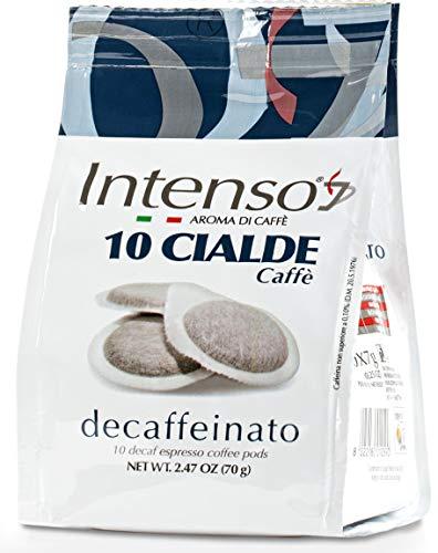 3x Intenso Cialde Caffè Decaffeinato Espresso Pads Kaffee Packung mit 10 entkoffeinierten Kaffeepads