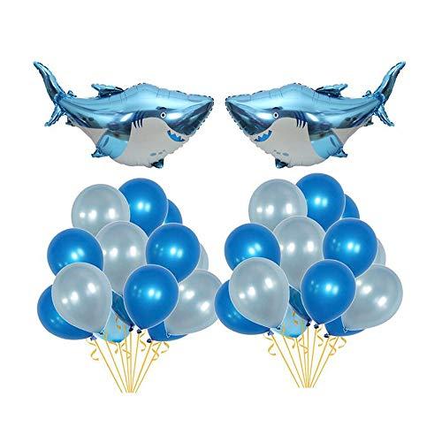 Lowest Prices! Joycart Ocean Theme Birthday Party Balloon Set Floating Large Shark Latex Balloon Pac...