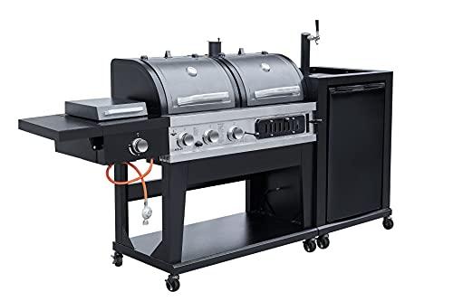vomadi Grillküche mit Gasgrill Holzkohlegrill und Steakgrill 800°