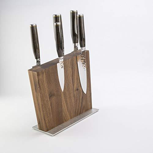 Palatina officina, esclusivo set di coltelli ultra affilati Kai Shun Tim Mälzer, coltello damascato + blocco magnetico...