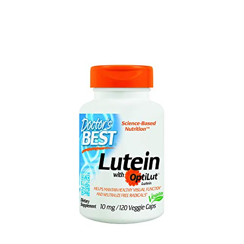 Doctor's Best 20mg Lutein with Optilut Lutein 120 Veggie Capsules