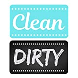 Dishwasher Magnet Clean Dirty Sign - Strongest Magnet Double Sided Flip - With Bonus Metal Magnetic...