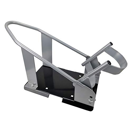 ROBLOCK Motorcycle Wheel Chock Adjustable Cradle Holder for Standard Removable Front Wheels Stand Trailer