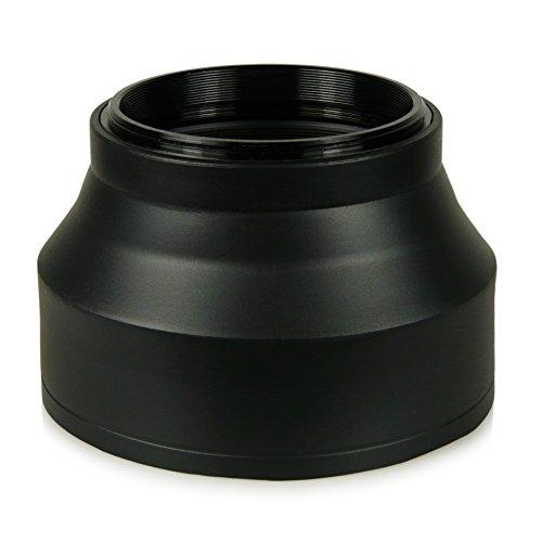 58mm Gegenlichtblende - Gummi / Silikon - für Canon EOS 1DX | 5D Mark II | 5D Mark III | 5D | 6D | 7D | 10D | 30D | 40D | 50D | 60D | 70D | 100D | 1000D | 1100D | 1200D | 300D | 350D | 400D | 450D | 500D | 550D | 600D | 650D | 700D - Nikon Df - Panasonic Lumix DMC-GH4 - Samsung Galaxy NX | NX10 | NX11 | NX20 | NX200 | NX210 | NX30 | NX300 - Fuji X-A1 | X-E1 | X-E2 | X-M1 | X-T1 - Olympus E-420 | E-450 | E-520 | E-620 und weitere…