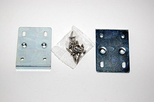 Reparaturset für Küchenschrank-Scharniere, enthält 2 Platten und Befestigungsschrauben