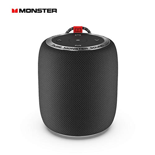 Monster Bluetooth Speaker, Superstar S110 Portable Bluetooth Speakers 5.0 with TWS Pairing for 360° Louder Stereo Sound, Built-in Mic, Portable Wireless Speaker for Home or Indoor Use, Black