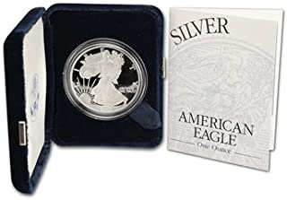 2003 W Proof American Eagle Silver Dollar with Original Packaging and COA $1 PR DCAM US Mint