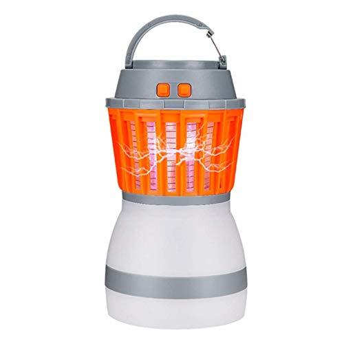 Mosquito Killer Elektrischer Insektenvernichter Insektenlampe Mückenlampe Campinglampe Zeltlampe 2 in 1, USB Wiederaufladbar,Mückenfalle mit 2200mAh Akku für Outdoor Indoor Garten, IPX6 Wasserdicht