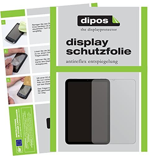 dipos I 2X Schutzfolie matt kompatibel mit Apple iPad Mini 6 Folie Bildschirmschutzfolie