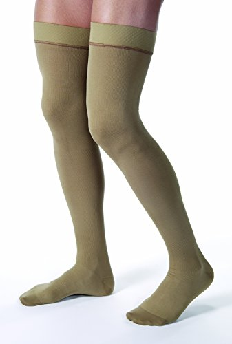 BSN Medical 115514 JOBST Compression Stocking, Thigh High, 15-20 mmHg, Closed Toe, Large, Khaki