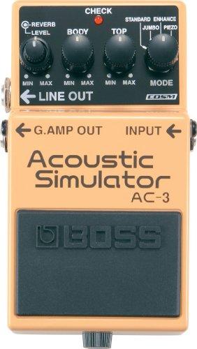 "Boss AC-3 Pedal Compacto""Acoustic Simulator"""