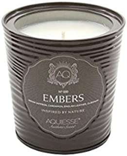 Aquiesse Large Scented Soy Candle Tin Embers 11oz Approx 100 Hour Burn