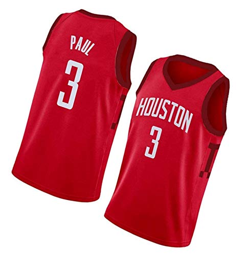 PTELEA Para Hombres Baloncesto Rocket Entrenamiento Sin Mangas Paul Jersey #3 Rojo, rojo, M
