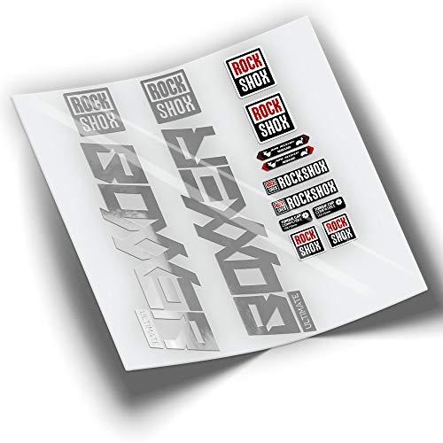 PEGATINEA Decals Autocollants DE Fourche ROCKSHOX BOXXER 2020 WP299 Argent Chrome