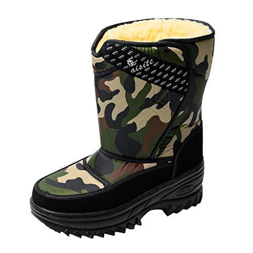 SUGEER Men's Work Boots Winter Hiking Boot Waterproof Shoes Snow Boots