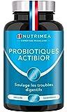 Probiotiques & Prébiotiques   Formule unique   Fabriqué en France   Améliore la Digestion   7 souches ciblées   Microbiote intestinal   Immunité   60 gélules végétales gastro-résistantes   Nutrimea