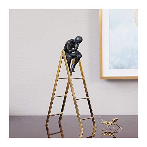 MZL Thinker Dekoration Modell Wohnzimmer Wein Cabinet Office Study Metall Crystal Ball Startseite Soft-Dekoration