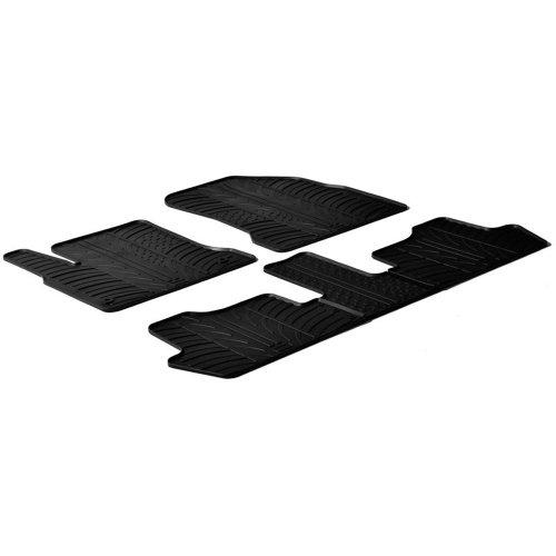 Gledring Set tapis de caoutchouc compatible avec Citroen C4 Picasso 2006-2013 (T profil 5-pièces + clips de montage)