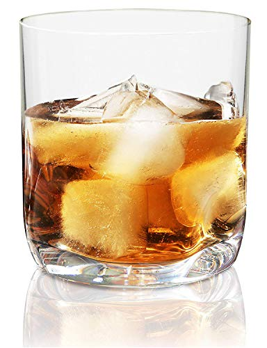 Vivocci Unbreakable Tritan Plastic Rocks 12.5 oz Whiskey & Double Old Fashioned Glasses | Thumb Indent Glassware | Ideal for Bourbon & Scotch | Perfect For Homes & Bars | Dishwasher Safe | Buy 6 Pay 5