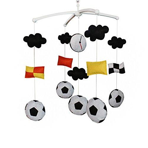 Fútbol Decoración de cama de bebé Music Crib Mobile Regalos hechos a mano Juguete colgante
