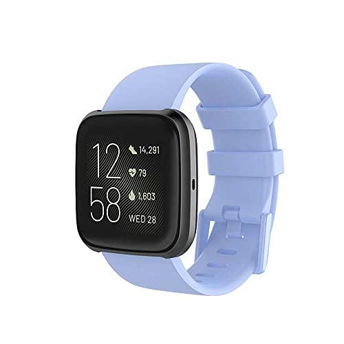 Gransho Correa de Reloj Recambios Correa Relojes Caucho Compatible con Fitbit Versa 2 / Versa 2 SE/Versa Lite/Versa smartwatch - Silicona Correa Reloj con Hebilla (Pattern 5)