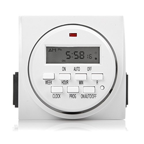 Century 7 Day Heavy Duty Minuteur numérique programmable Dual Outlet by Century Timer