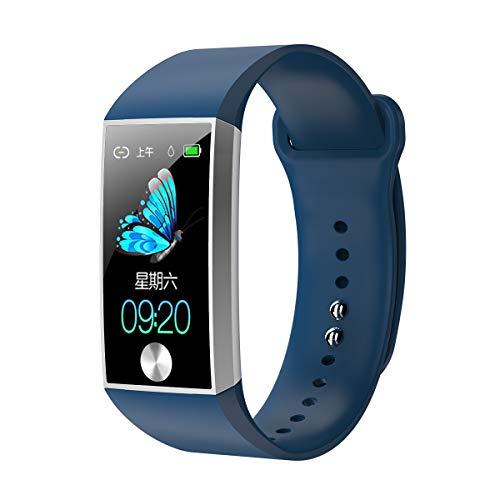 S28スマートブレスレットスポーツ健康防水ブルートゥースブラッド、WEARFIT 2.0アプリ、お使いの携帯電話であなたの健康データをチェックしてください,ブルー