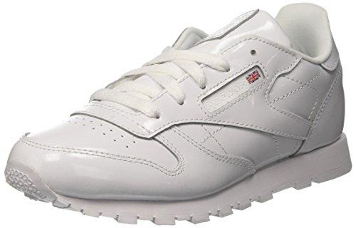 Reebok Classic Leather Patent, Zapatillas de Deporte Mujer, Blanco (White 000), 37 EU