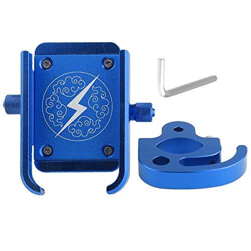 Leyeet Universal Metal Motorcycle Bicycle Handlebar Phone Holder Mount Cradle Bracket GPS Stand Rack (Color : Blue)