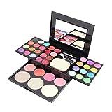 MXECO Professional Brand Make Up Palette Set Cosmetics Sombra de Ojos Lip Gloss Foundation Powder Blusher Puff Tool Kit de Maquillaje (Colorido)