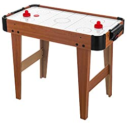 PERFECT FUN TIME: Creating a fun and exciting atmosphere right in your home for the kids is something that most parents strive to achieve. Air hockey tables are an awesome way to create that atmosphere. REAL AIR FLOW FAN: The puck glides on a cushion...
