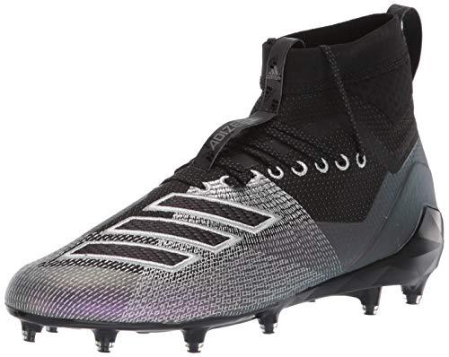 adidas Men's Adizero 8.0 SK Football Shoe, Black/Night Metallic/Grey, 12 M US