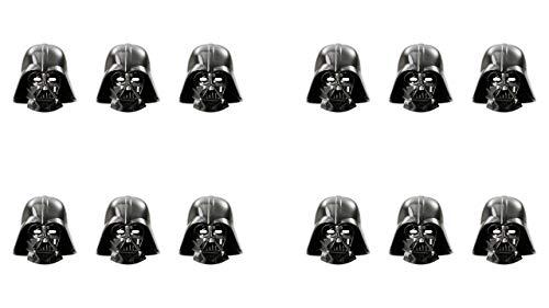 ALMACENESADAN 2565; Pack 12 mascaras Star Wars, Darth Vader; Ideal para Fiestas y cumpleaños